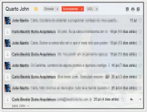 Imagem do sistema de conversas no Gmail