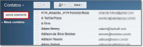 como adicionar novo contato no gmail