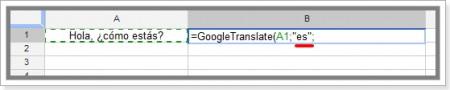 código do idioma de origem no google planilhas