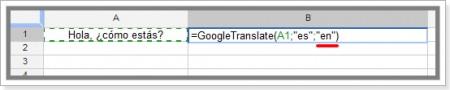 código do idioma que deseja obter a tradução