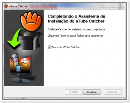 Imagem de Tela de instalação do atube Catcher
