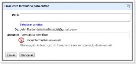 Imagem de como Enviar formulário incorporado no e-mail