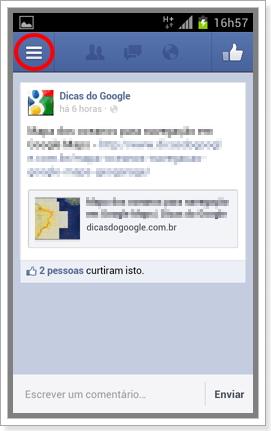 Desativar Localizacao Facebook Android 2