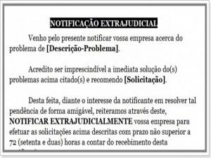 Modelo de notificação extra judicial