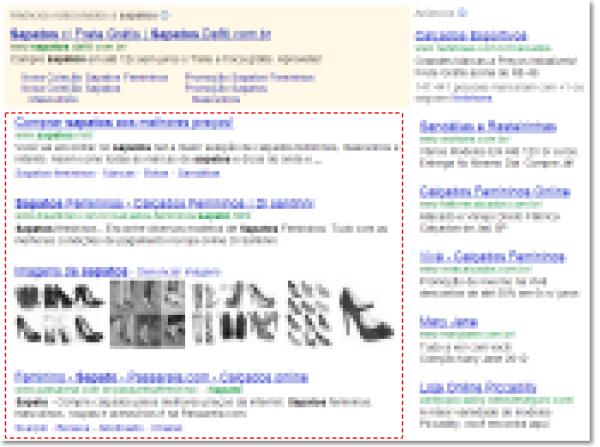 Imagem de Resultados Orgânicos em pesquisa do Google
