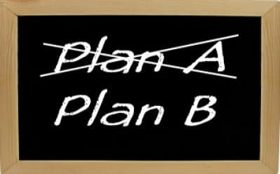 Imagem de descrição alternativa como plano B em quadro negro