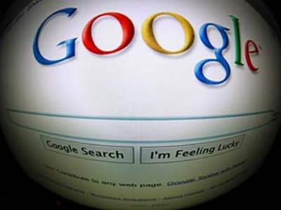 Imagem da página inicial do Google