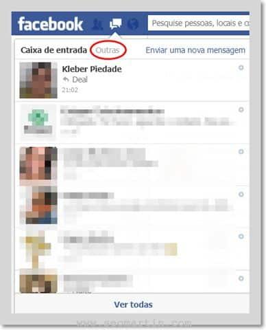 Você já viu suas OUTRAS mensagens no Facebook?