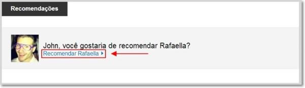 Link recomendar usuário no LinkedIn