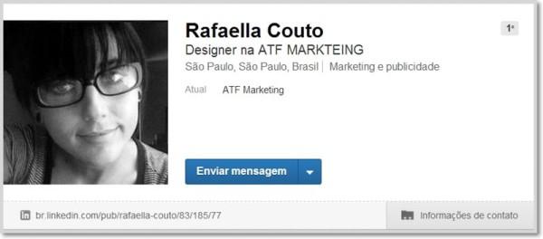 Página de perfil de um usuário no LinkedIn