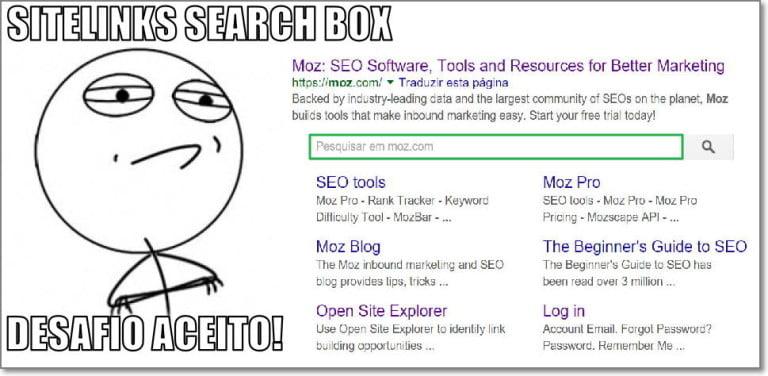Como configurar a Caixa de Pesquisa nos seus Sitelinks