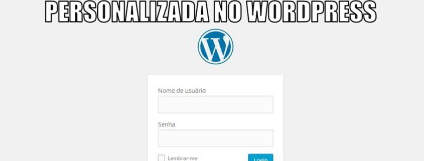 URL de Login Personalizada no Wordpress