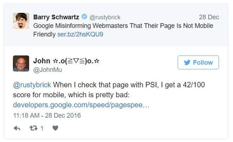 Página lenta não é mobile para o Google