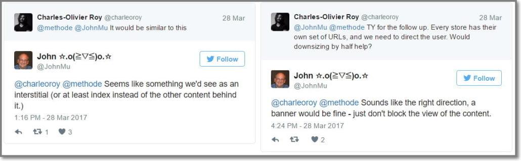 John Mueller responde sobre pop-up invasivo