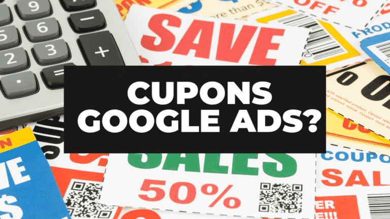 Posso usar vários cupons no Google Ads?