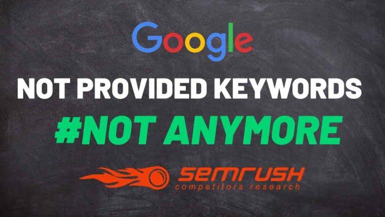 Como identificar Not Provided Keywords com Semrush