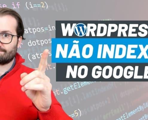 Wordpress não indexa